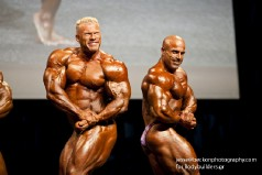IFBB Pro Bodybuilders Dennis Wolf and Mike Kefalianos