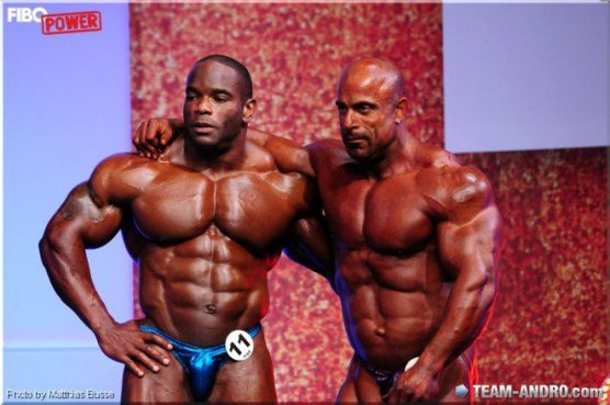 Johnnie Jackson and Michael Kefalianos - 1st and 2nd at the 2012 FIBO Power Pro