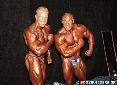 IFBB Pro Bodybuilders Constantinos Demetriou And Michael Kefalianos